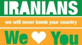 Iranians, we will never bomb your country