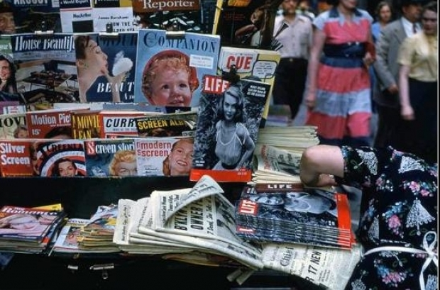 Magazine Stand. Ruth Orkin Photo Archive