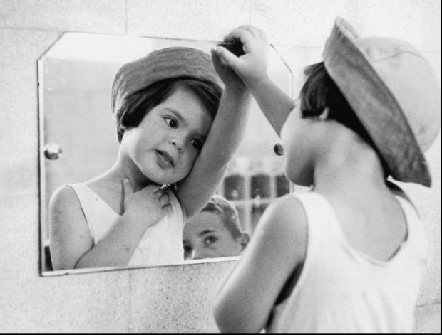 Tirza in Mirror. Ruth Orkin Photo Archive
