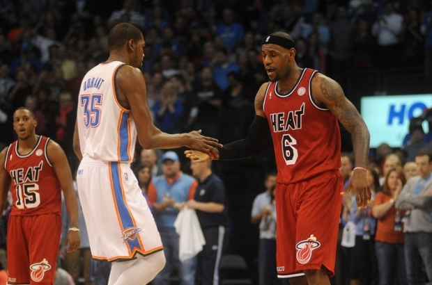 LeBron James si Kevin Durant. Foto: USA TODAY Sports