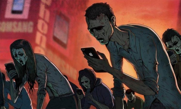 Zombie by British artist Steve Cutts