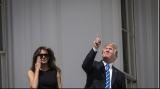 Donald și Melania Trump la eclipsa de soare, 21 august 2017