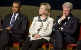 Barack Obama, Hillary și Bill Clinton