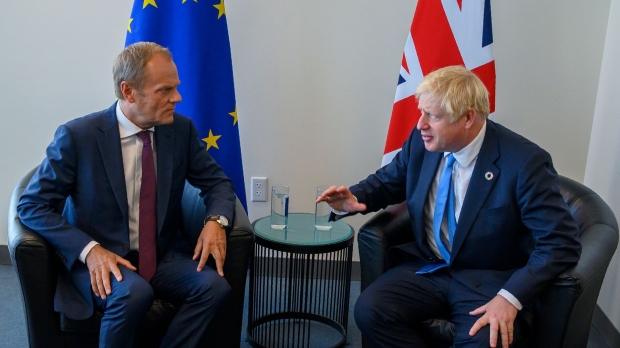 Donald Tusk și Boris Johnson