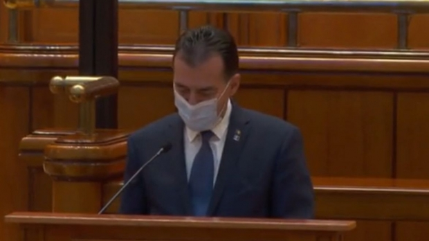 Ludovic Orban, in Parlament