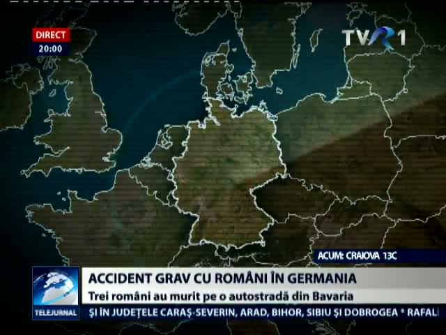 Trei morti si trei raniti intr-un accident in Germania