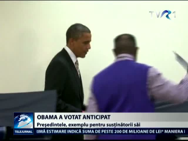 Obama a votat anticipat