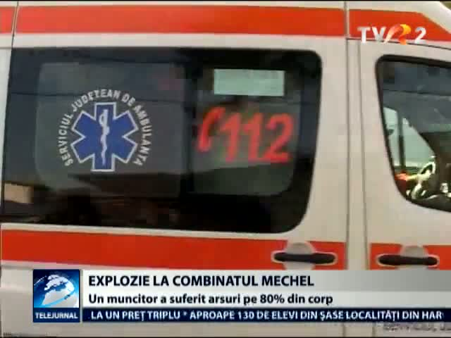 Explozie la combinatul Mechel