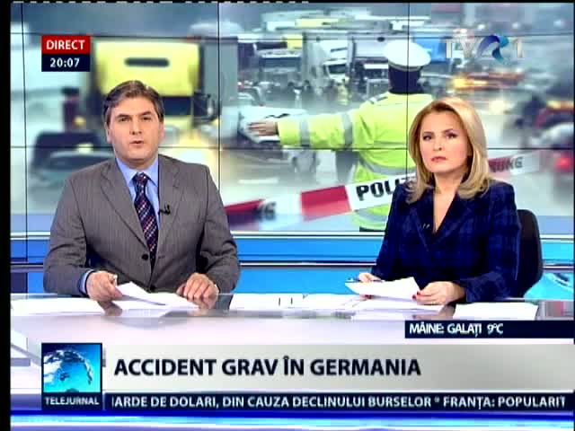 Accident pe o autostrada in Germania