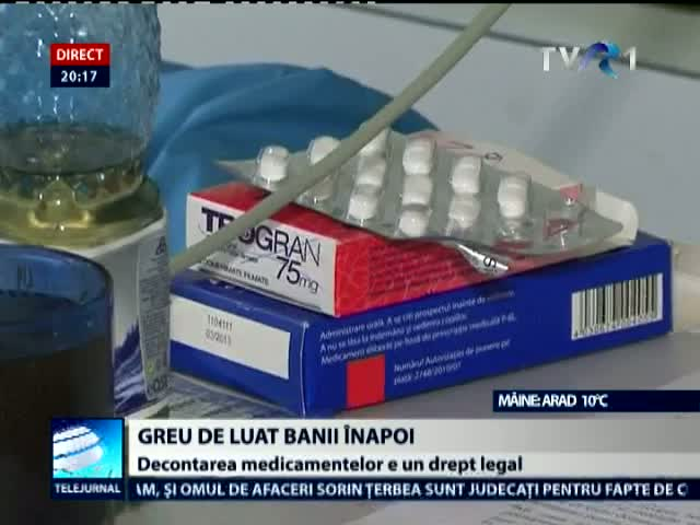 Decontul medicamentelor este un drept legal