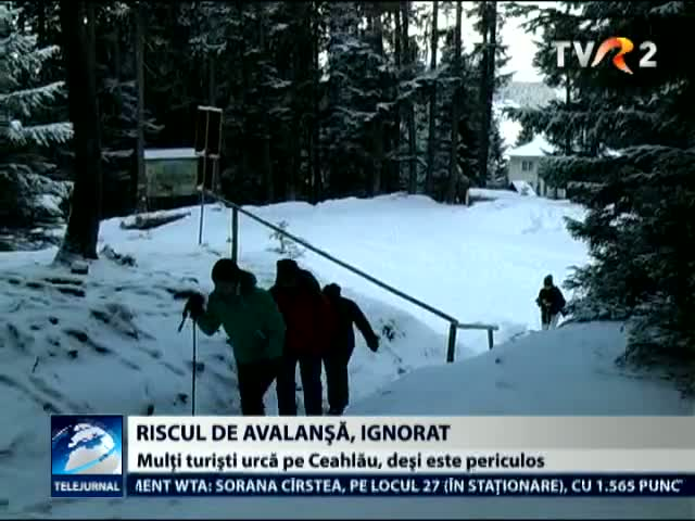 Riscul de avalansa, ignorat