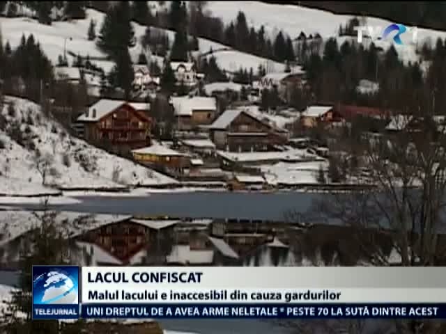 Lac de acumulare ingradit ilegal
