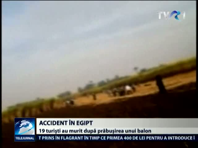 Accident cu balon in Egipt