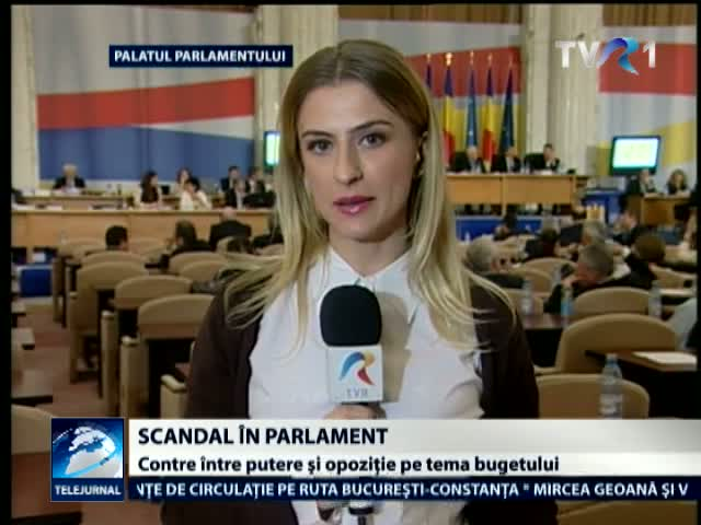 Scandalul pe buget continua in Parlament