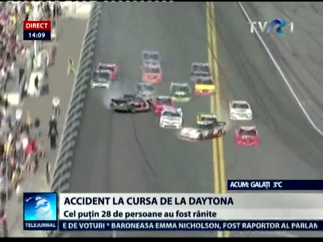 Accident pe circuitul de la Daytona Beach