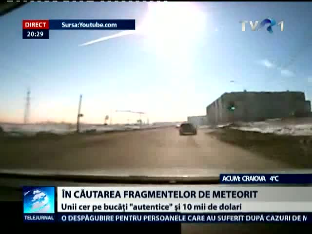 In cautarea fragmentelor de meteorit
