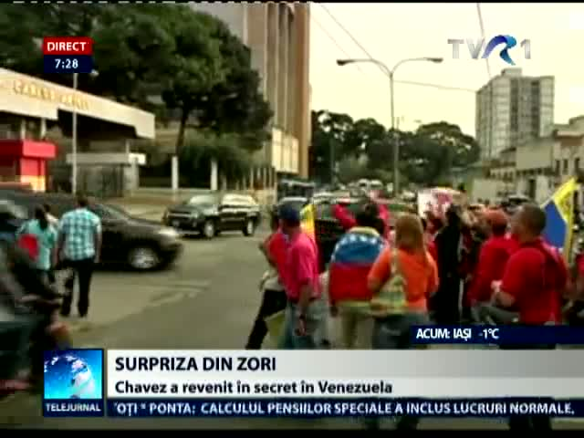 Chavez s-a intors in Venezuela