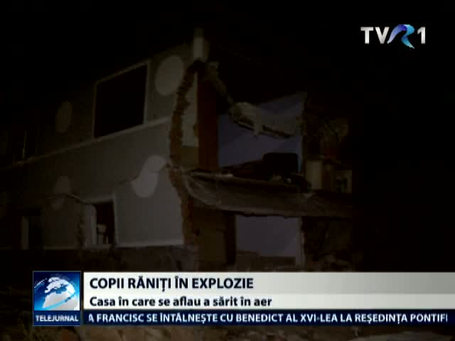 Copii raniti in explozie