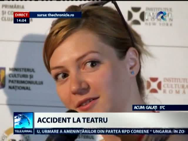 Accident la teatru