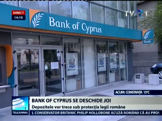 Bank of Cyprus se redeschide joi