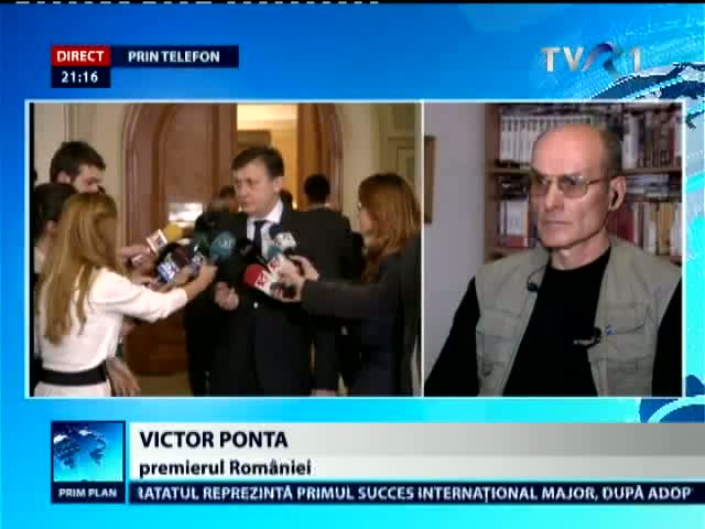Victor Ponta, în direct la Prim Plan