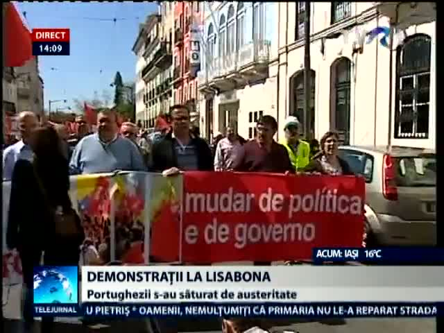 Demonstratii la Lisabona