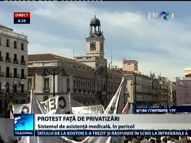 Madrid: Proteste faţă de privatizarile din sistemul medical