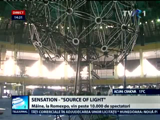 "Sensation - ""Source of light"", la Romexpo"