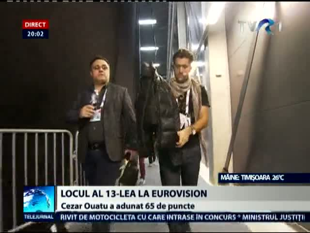 Cezar, locul 13 la Eurovision