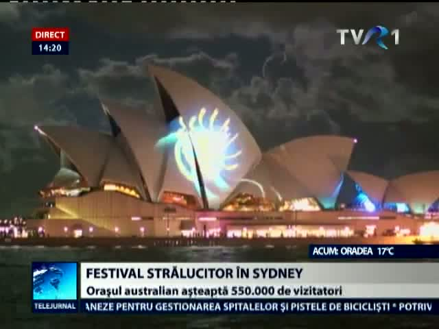 Festival stralucitor in Sidney