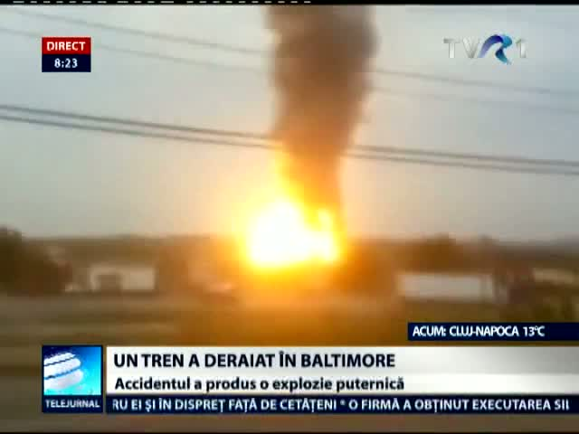 Tren deraiat în Baltimore