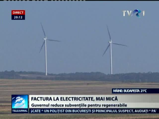Factura la electricitate, mai mică