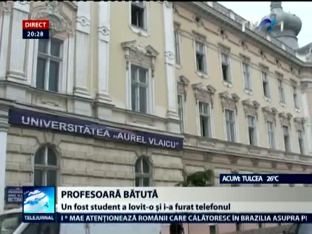Profesoara agresata in facultate