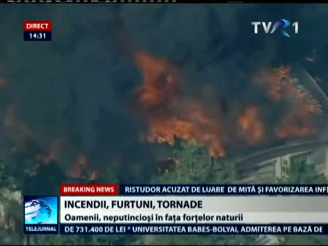 Incendii furtuni tornade in SUA