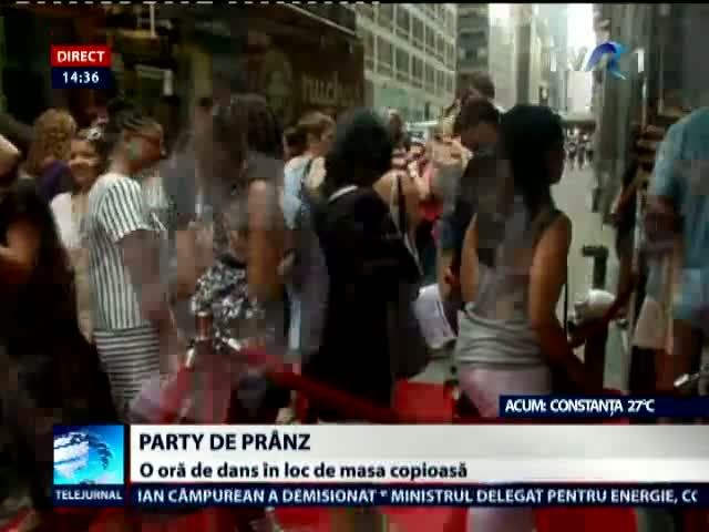 Party de prânz în Manhattan