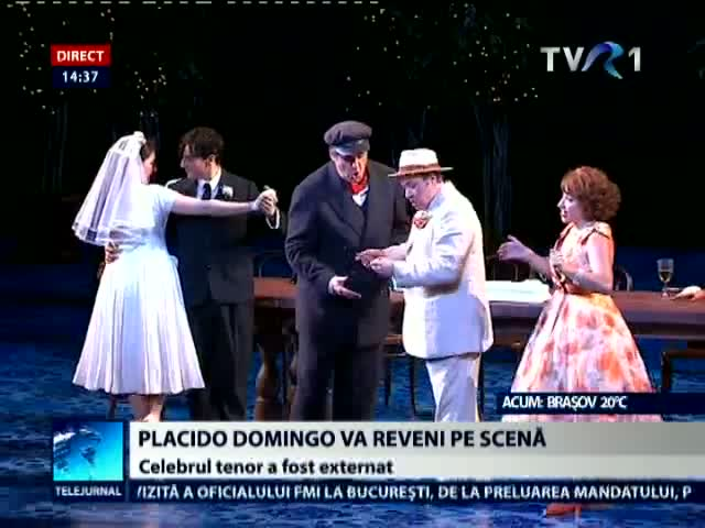Placido Domingo revine pe scena