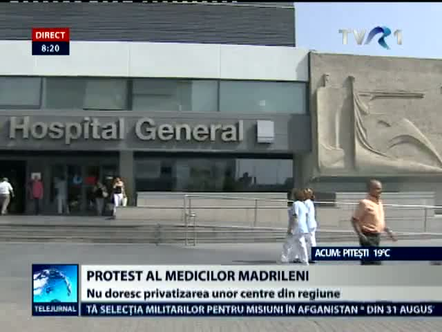 Protest la Madrid faţă de privatizarea spitalelor