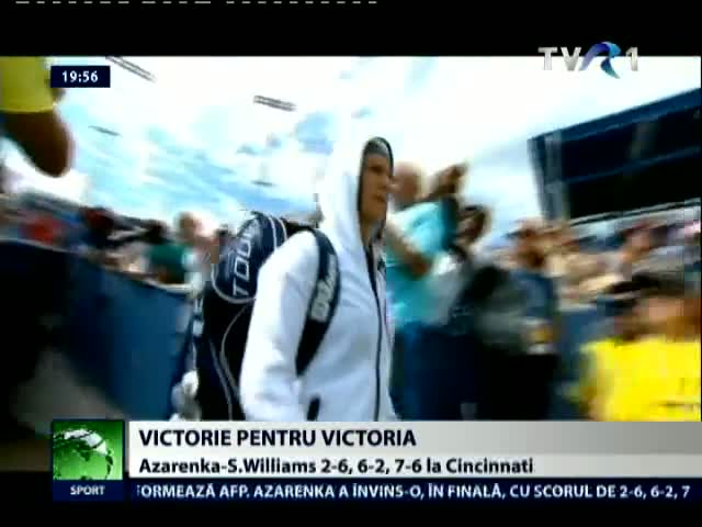 Viktoria Azarenka a invins-o pe Serena Williams in finala de la Cincinnati