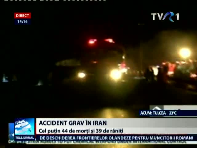 Accident grav în Iran