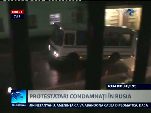 Protestatari condamnati in Rusia