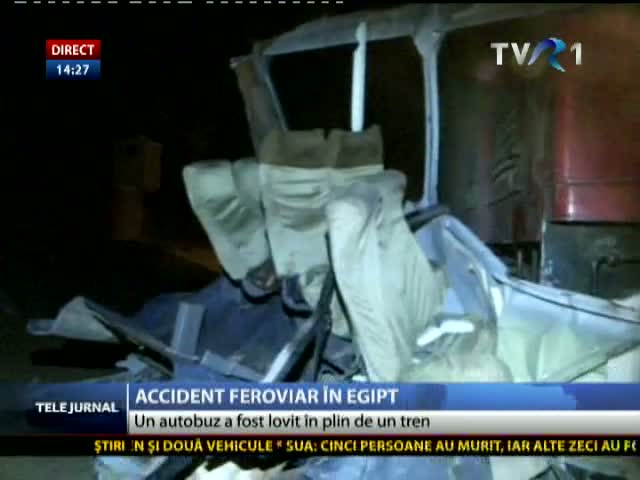 Accident feroviar în Egipt