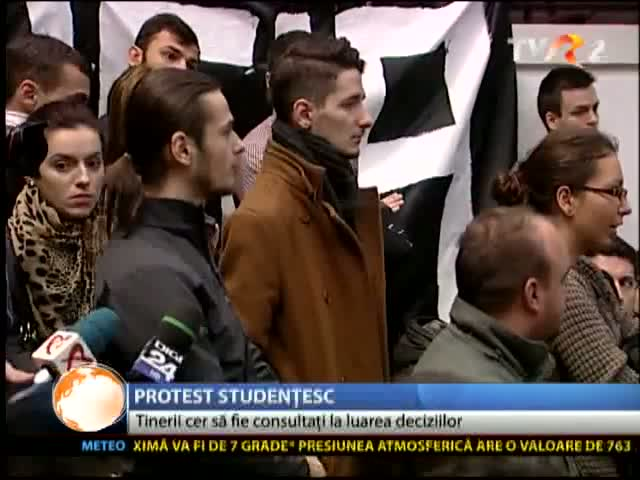 Protest la Universitatea București