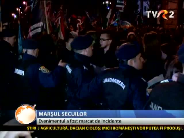 Incidente la marșul secuilor