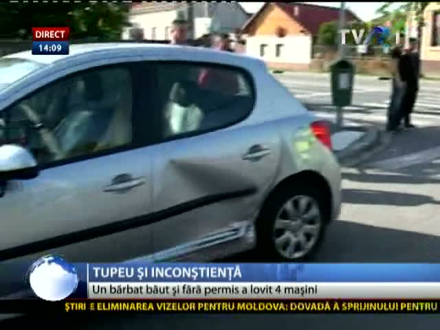 Accident produs de șofer tupeist
