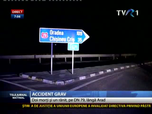 Grav accident la Arad