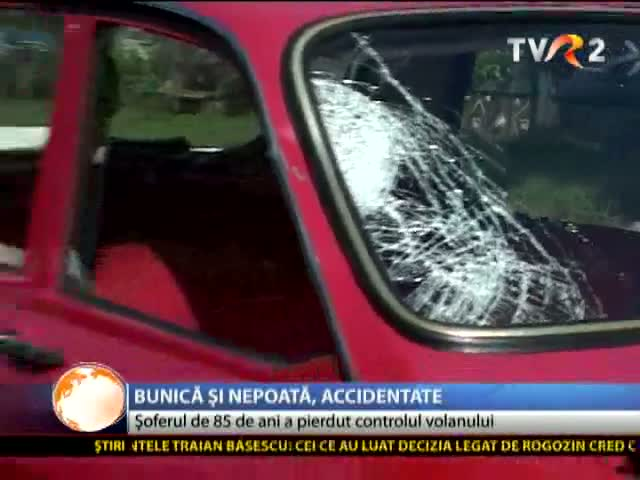 Accident provocat de un șofer de 85 de ani