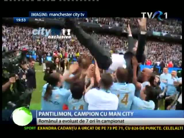 Costel Pantilimon, campion cu Manchester City