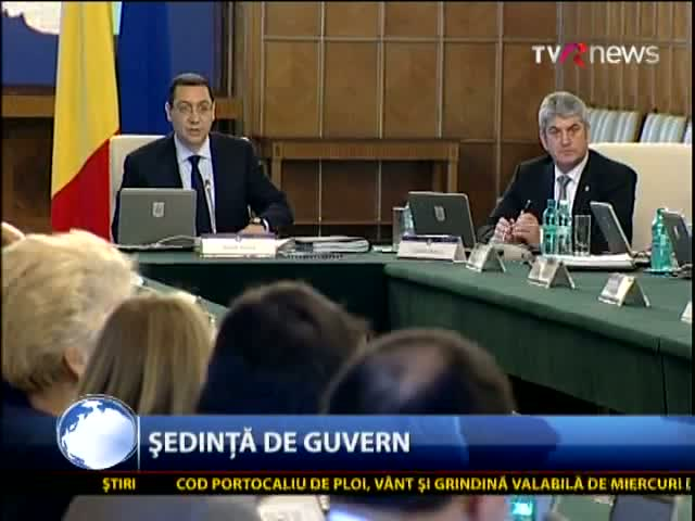 Declarații audio în direct de la ședința de guvern