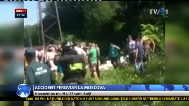 Accident feroviar la Moscova