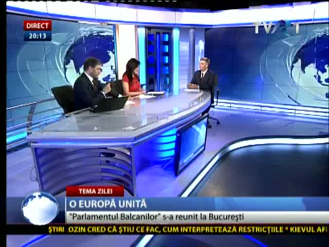 Valeriu Zgonea la Telejurnal